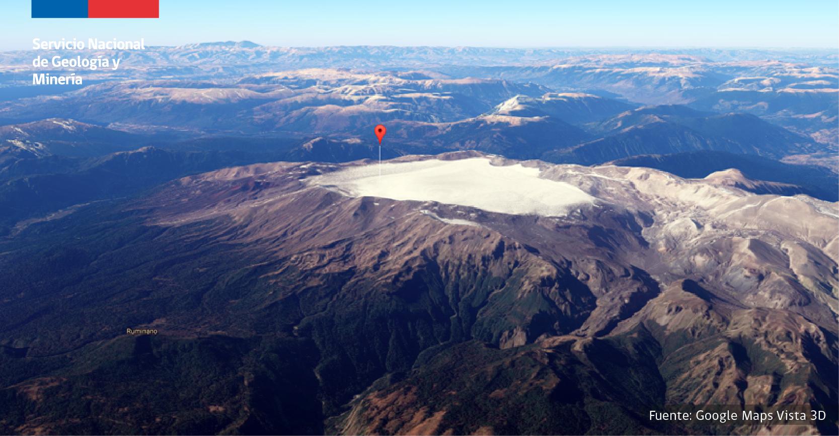 Nevado de Sollipulli; Vestigios de una de las explosiones volcánicas mas grandes de la historia.
